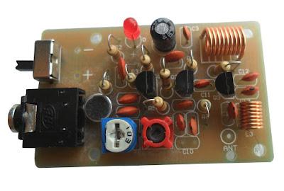 ชุดคิทเครื่องส่ง FM 76-108 MHz 3 ทรานซิสเตอร์