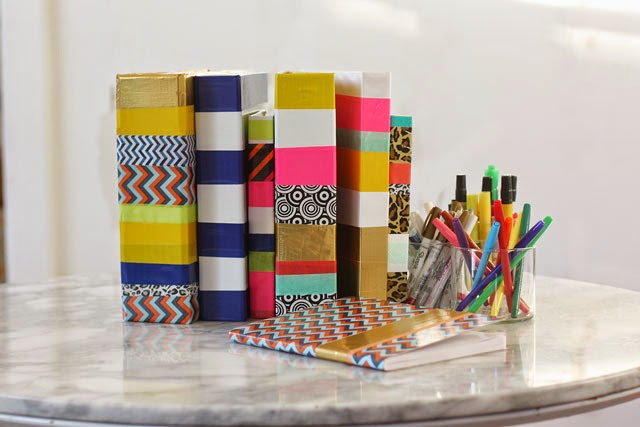 school supply makeover with tape aunt peaches. Black Bedroom Furniture Sets. Home Design Ideas