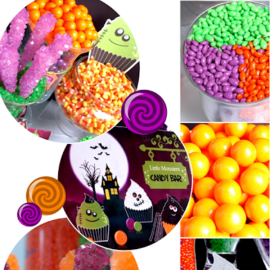 A Halloween Little Monsters Candy Buffet