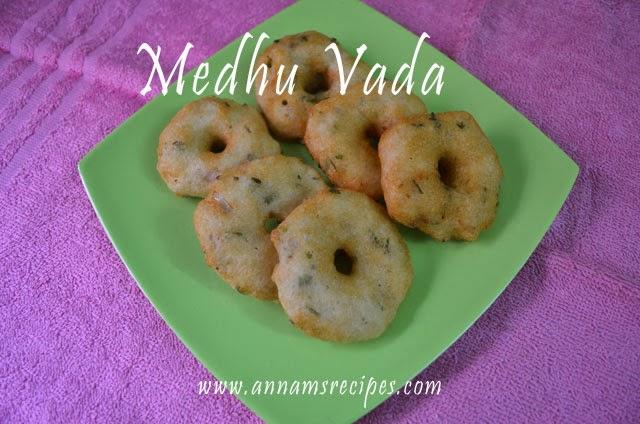 Vada or Medhu Vada