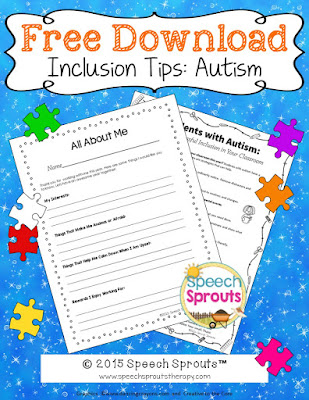 Autism: 12 Tips for Teachers FREE download www.speechsproutstherapy.com
