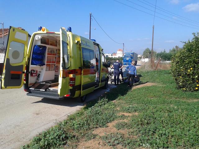 Τροχαίο με τραυματισμό στη Νέα Τίρυνθα