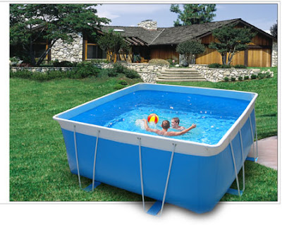 Yard design ideas uk for Above ground swimming pools uk