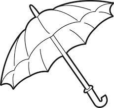 Umbrella Coloring Page 1