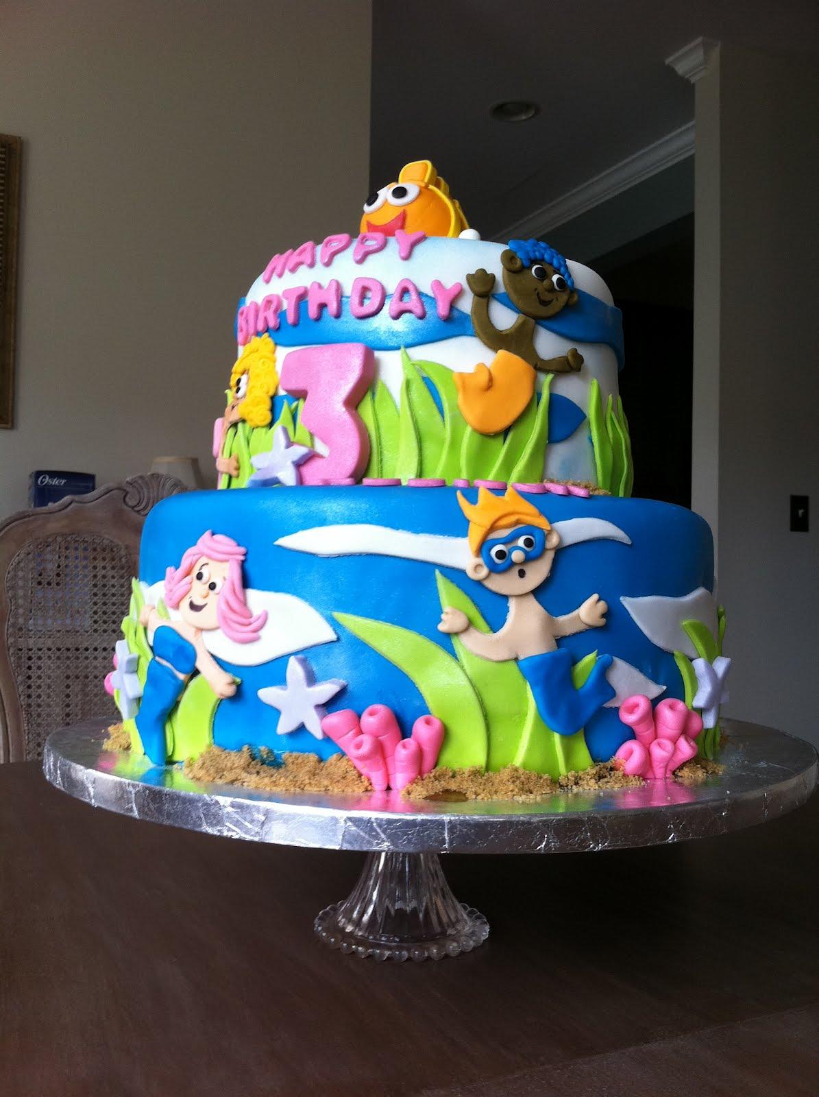 Simple Bubble Guppies Cake Ideas