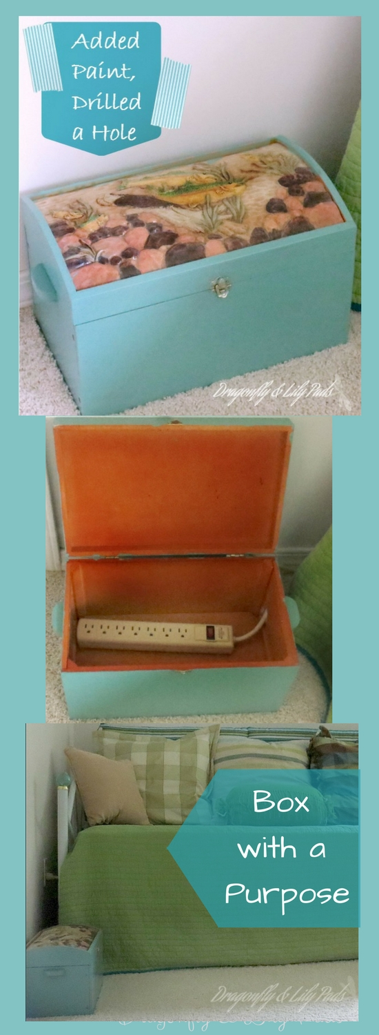Pinterest Picture for post A Box with a Purpose. Thrift Store, Decor, Upcycle