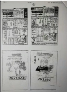 Thai Lottery Closing Papers For 01-10-2018