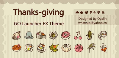 Tema Go Launcher Baru ThanksGiving Apk Download
