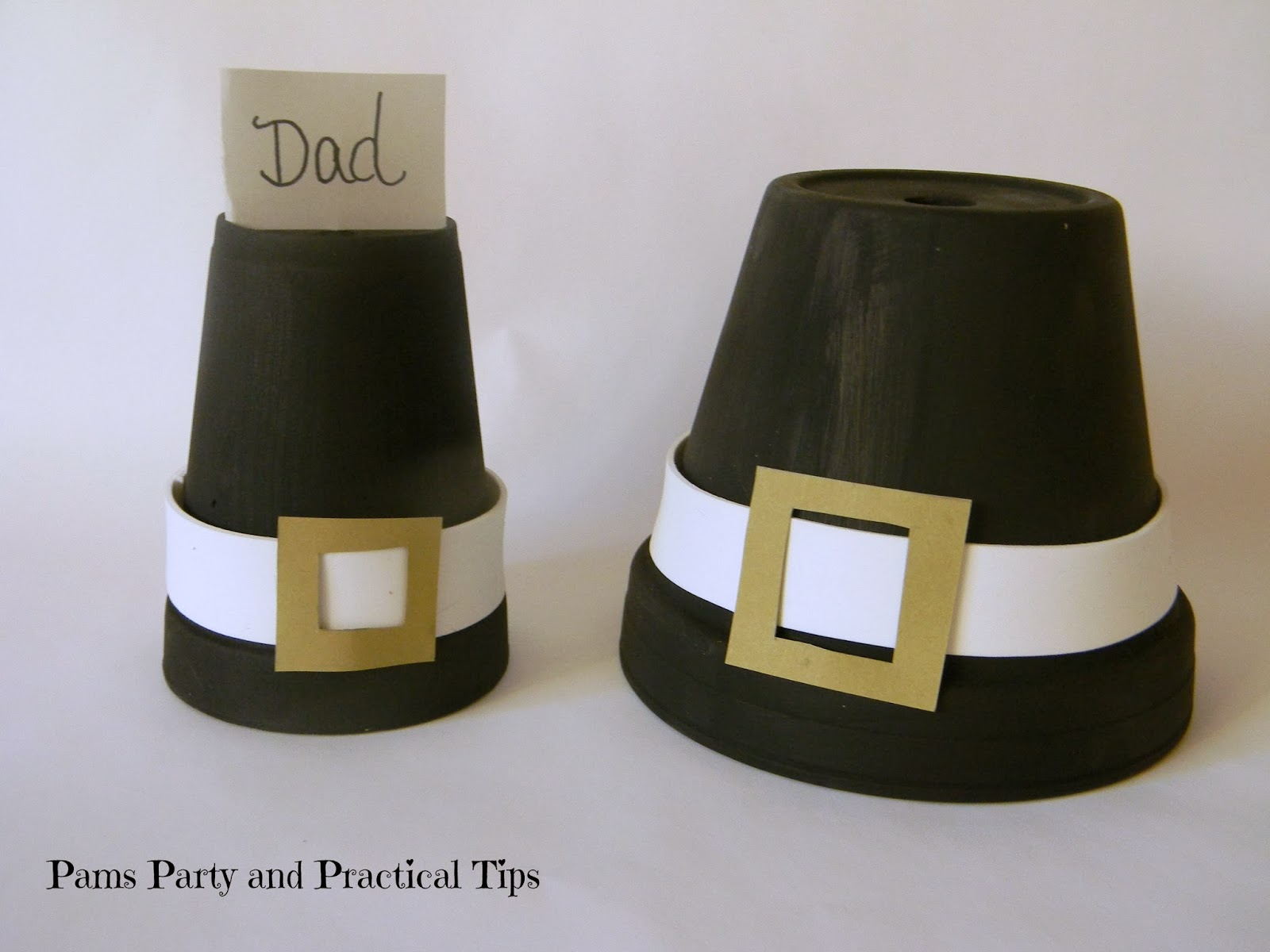 Pams Party & Practical Tips: Last Minute Pilgrim Hat Crafts