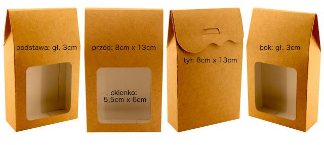 Pudełko upominkowe podarunkowe okolicznościowe z okienkiem