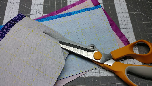 Cutting out applique letters