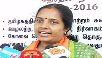 Vijayakanth failed to Keep Party in Control : Vanathi Srinivasan, BJP – Thanthi Tv