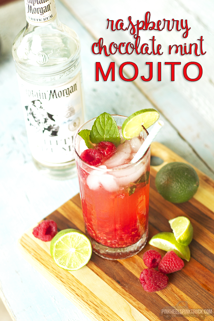a mojito recipe with Raspberry Chocolate Mint