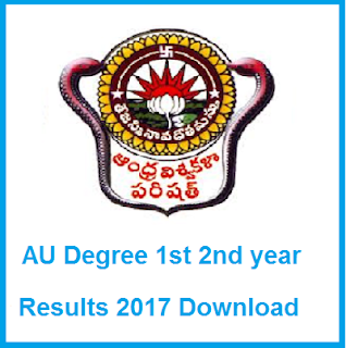 au degree 1st, 2nd year results 2017 manabadi