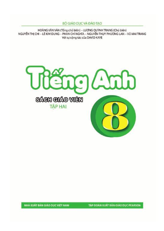 Sách Giáo Viên Tiếng Anh 8 Tập 2
