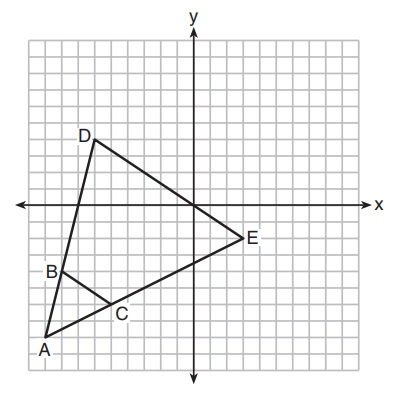 X why january 2018 common core geometry regents parts 3 and 4 triangle abc and triangle ade are graphed on the set of axes below fandeluxe Image collections