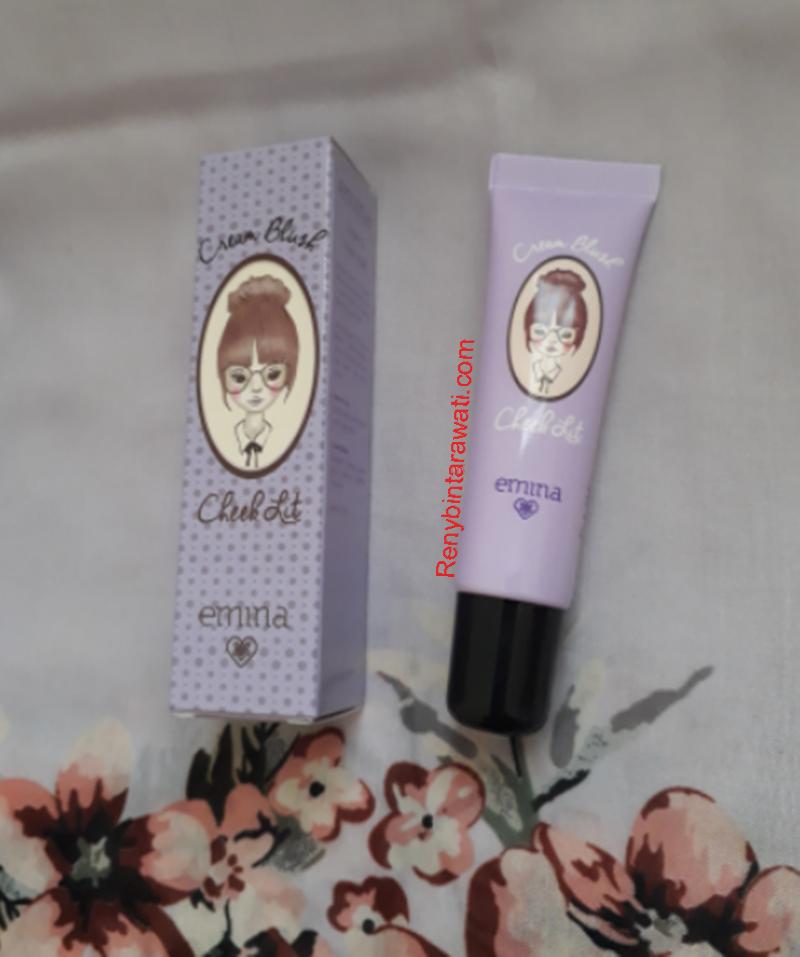 Review : EMINA Cream Blush Cheek Lit warna Pink - Reny Blog