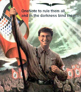 Bill Gates Mordor Mordred Nazi Hitler One Note Windows Journal MordorSoft