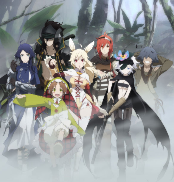 Siedmiu bohaterów anime Rokka no Yuusha na nowym plakacie