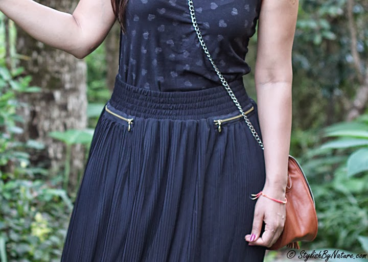 Maxi Skirt with zip details