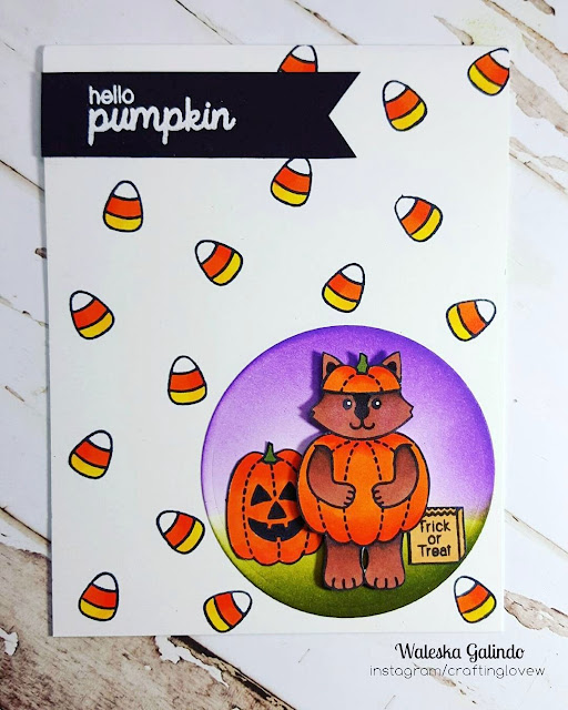 Sunny Studio Stamps: Halloween Cuties Candy Corn Card by Waleska