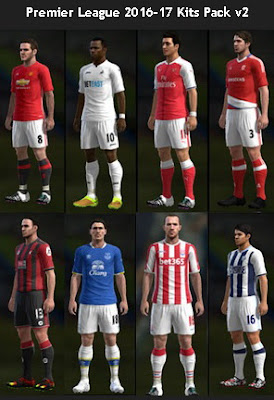 Premier League 2016-17 Kits Pack v2