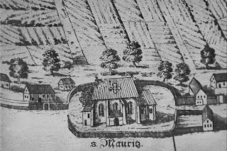 Kościół św. Maurycego, plan 1562, Przedmieście Oławskie, Wrocław