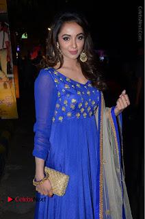 Telugu Actress Tejaswi Madivada Pos in Blue Long Dress at Nanna Nenu Na Boyfriends Audio Launch  0046.JPG