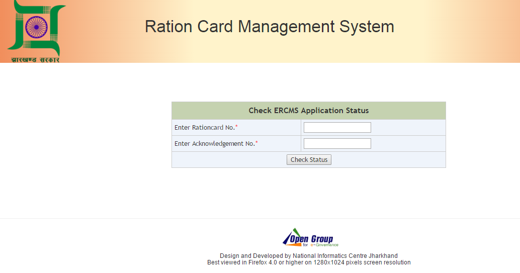 Jharkhand Ration Card Online Check Forms Status Search