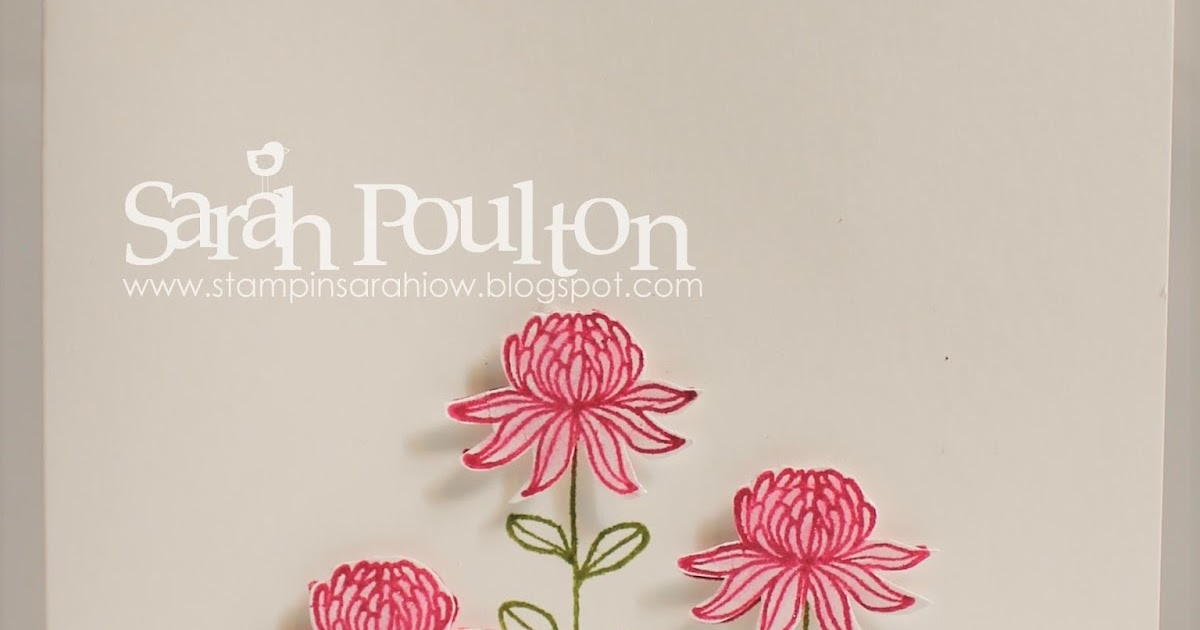 Stampin' Sarah!: A Flowering Fields Sale A Bration ...