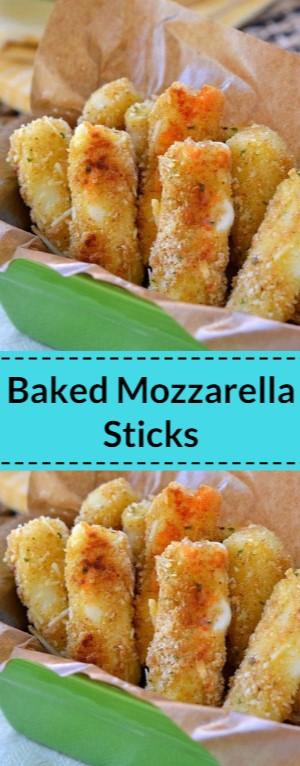 Freezer-Friendly Baked Mozzarella Sticks