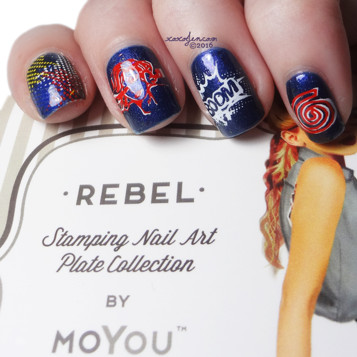 xoxoJen's swatch of Moyou stamping nail art