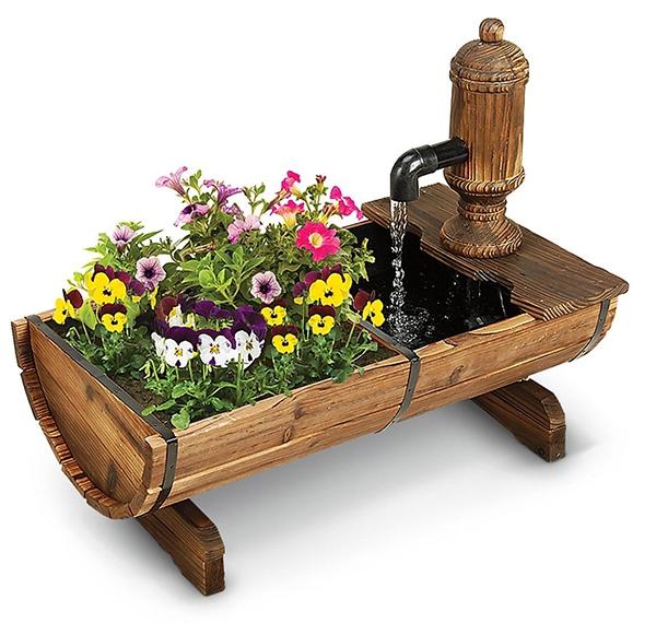 Hiasan air motif kayu berbunga