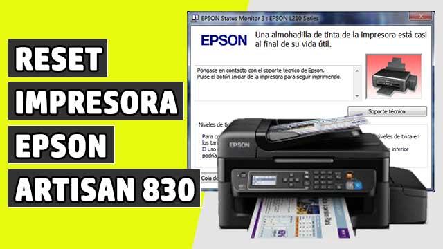 resetear Almohadillas impresora EPSON Artisan 830