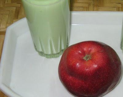 التفاح والحليب تساعد في حرق الدهون بسرعة