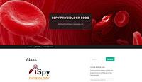 Screenshot of the I Spy Physiology website.