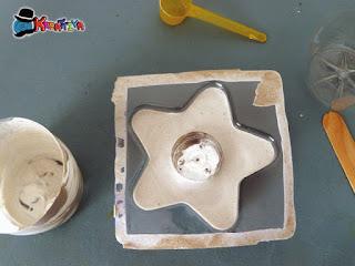 creare porta candela in gesso ceramico