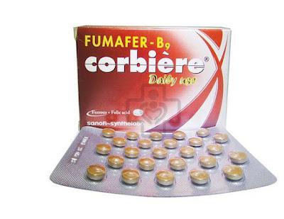 Viên sắt Fumafer- B9 Corbiere cho bà bầu và các trường hợp thiếu sắt và acid folic khác