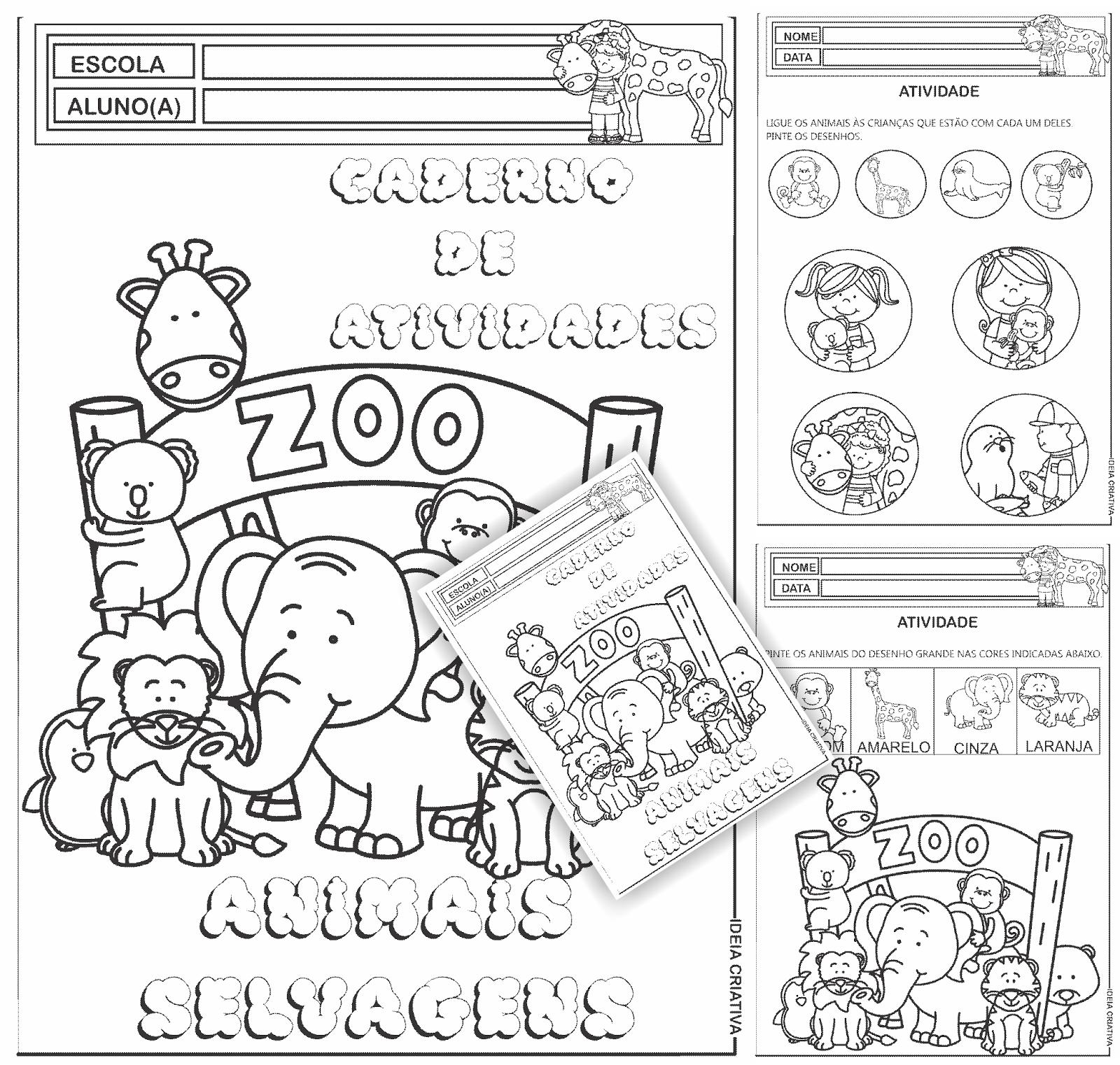 Caderno de Atividades Animais Selvagens