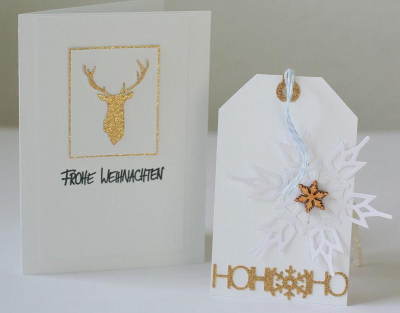 cathis scrapblog weihnachtskarten im goldrausch. Black Bedroom Furniture Sets. Home Design Ideas