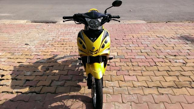 Sơn xe Exciter 2010 vàng đen cực đẹp