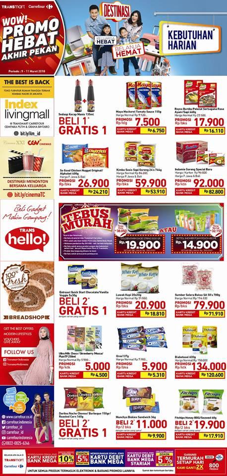 Katalog Promo Carrefour Transmart Akhir Pekan Periode 09 11 Maret