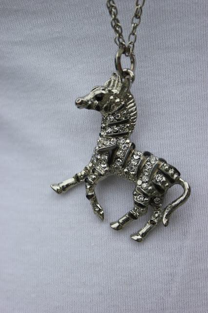 Forever 21 Zebra Necklace Pendant