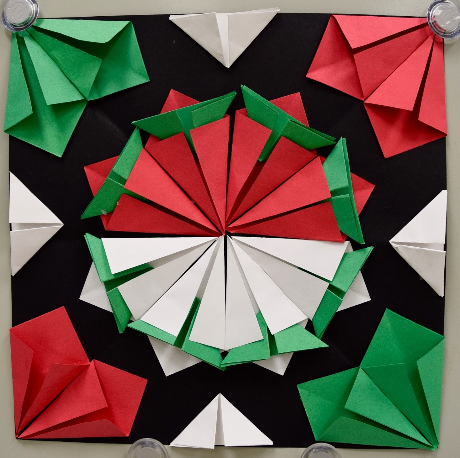 January Classroom Decor ~ Radial paper relief sculptures th part art