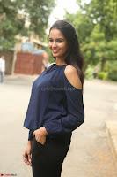Poojita Super Cute Smile in Blue Top black Trousers at Darsakudu press meet ~ Celebrities Galleries 066.JPG