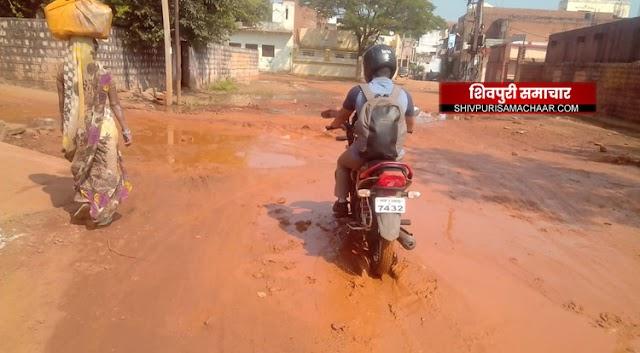 जनप्रतिनिधियों के घरों के आगे बह रही है गंदगी, कैसे होगा स्वच्छ शिवपुरी का सपना साकार | Shivpuri News