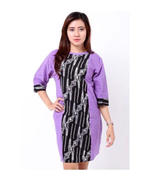 10 Model Dress Batik Kombinasi Brokat Terbaru 2020