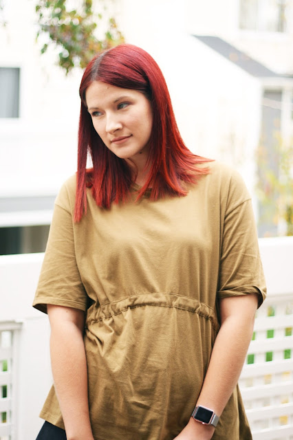Casual outfit, zara, high street, red hair