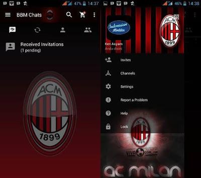 BBM MOD AC Milan Transparan Themes v3.2.5.12 Apk Clone Terbaru