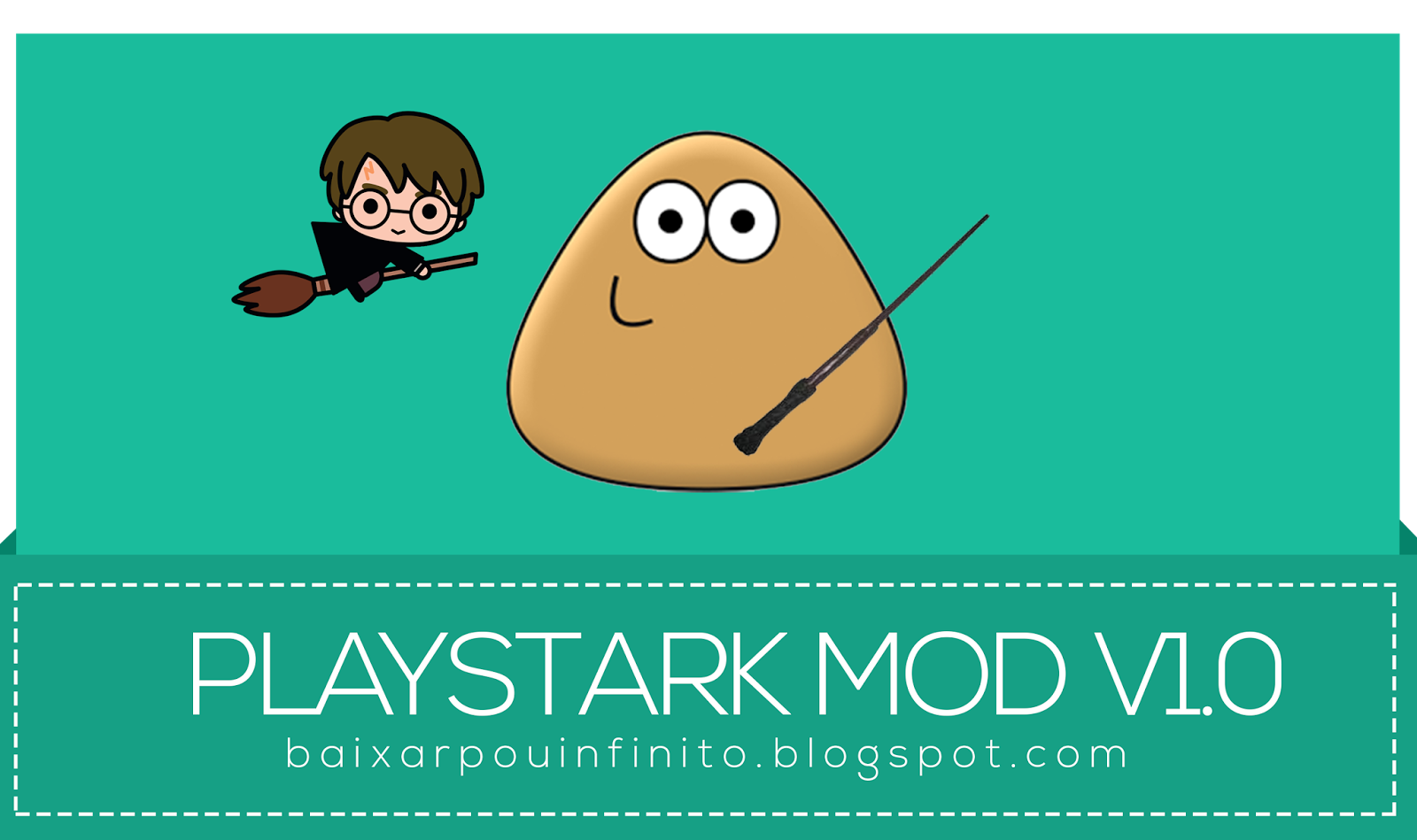 Pou PlayStark Mod v1.0 [ Harry Potter / Filho do Pou / Infinito ]